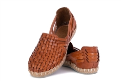 Women's Closed Toe Tassel Huaraches Sandals - Brown