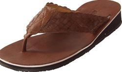 Torero Women's Flip Flop Huaraches - Brown