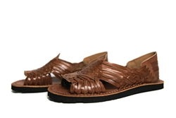 Premium Men's Authentic Pachuco Huaraches - Reddish Brown