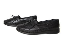 Don Memo Closed Toe Huaraches - Black