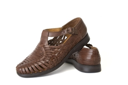 Charro Closed Toe Huaraches - Brown