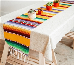 Mexican Classic Serape Table Runner - Multi Gold