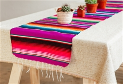 Shop for Mexican Classic Serape Table Runner - Multi Magenta