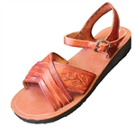 Women's Mexican Huaraches w/Buckle - Brown
