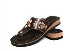 Women's Wedge Huaraches Sandals - Flor Dark Brown