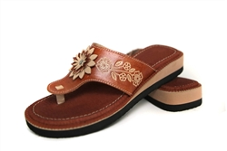 Women's Wedge Huaraches Sandals - Flor Tan