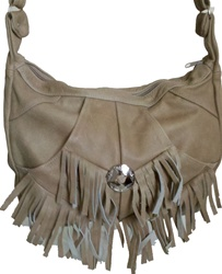 Fringe Leather Purse - 3 pockets