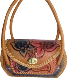 Authentic Hand Tooled Leather Purse - HT404