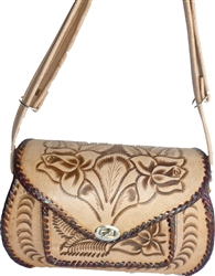 Authentic Hand Tooled Leather Purse - HT405