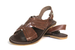 Shop for Open Toe Leather Sandals with Buckle