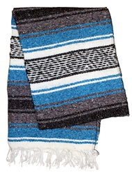 Lite Mexican Blanket - Blue