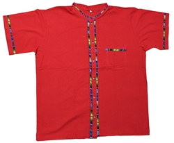 Men's Fiesta Button Down Shirt - Red