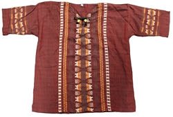 (Large) Men's Maya Embroidered Shirt - 1104