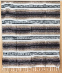 Mexican Falsa Blanket - Brown