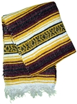 Mexican Blankets - Burgundy/Yellow
