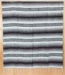 Mexican Falsa Blanket - Gray