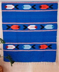 Colorful Mexican Heavy Blankets - Tribal 22