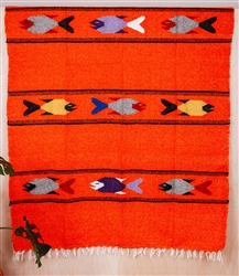 Colorful Mexican Heavy Blankets - Tribal 32