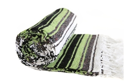 Mexican Falsa Blanket - Lime Green