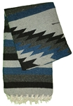 Heavy Mexican Blankets - Navy Blue