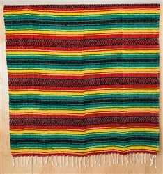 Mexican Falsa Blanket - Rasta