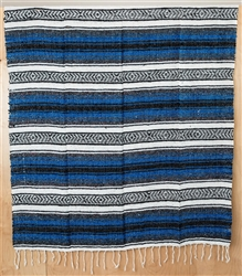 Mexican Falsa Blanket - Royal Blue