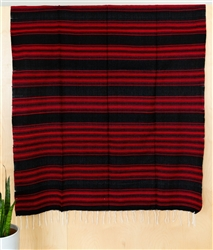 Serape Mexican Blankets - Black/Red