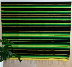 Serape Mexican Blankets - Hot Rod Green