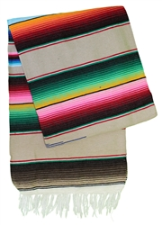 Serape Mexican Blankets - Multi Tan