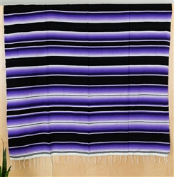 Serape Mexican Blankets - Purple