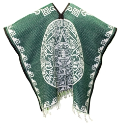 Heavy Blanket Traditional Mexican Poncho - Tribal 9