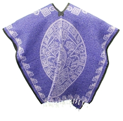 Heavy Blanket Mexican Poncho - Tribal 8
