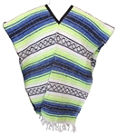 Mexican Blanket Poncho - Traditional Poncho #101