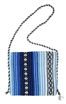 Mexican Blanket Bag - Blue 3