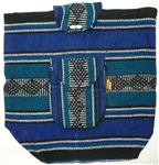 Traditional Mexican Backpack - Blue