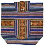Traditional Mexican Backpack - Peach/Blue