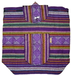 Traditional Mexican Backpack - Purple 1