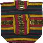 Traditional Mexican Backpack - Rasta