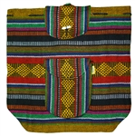 Traditional Mexican Backpack - Yellow