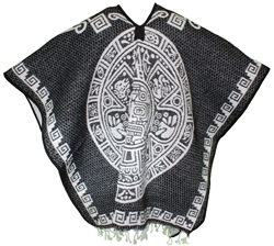 Heavy Blanket Mexican Poncho - Tribal 1