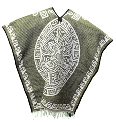Heavy Blanket Mexican Poncho - Tribal 10