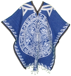 Heavy Blanket Mexican Poncho - Tribal 12