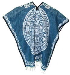 Heavy Blanket Mexican Poncho - Tribal 13