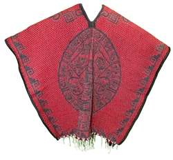 Heavy Blanket Mexican Poncho - Tribal 5