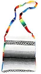Mexican Blanket Bag - Gray 1