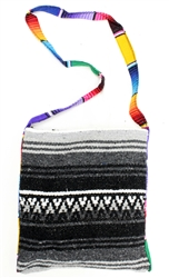 Mexican Blanket Bag - Gray 2