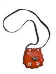 Latigo Tooled Leather Purse - Orange