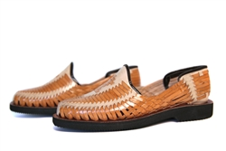 (Raw & Rustic) Authentic Closed Toe Huaraches - Tan/Natural