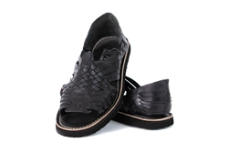 (Raw & Rustic) Generic Women's Authentic Pachuco Huaraches - Black