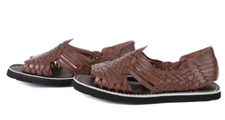 (Raw & Rustic) Generic Men's Authentic Pachuco Huaraches - Dark Brown